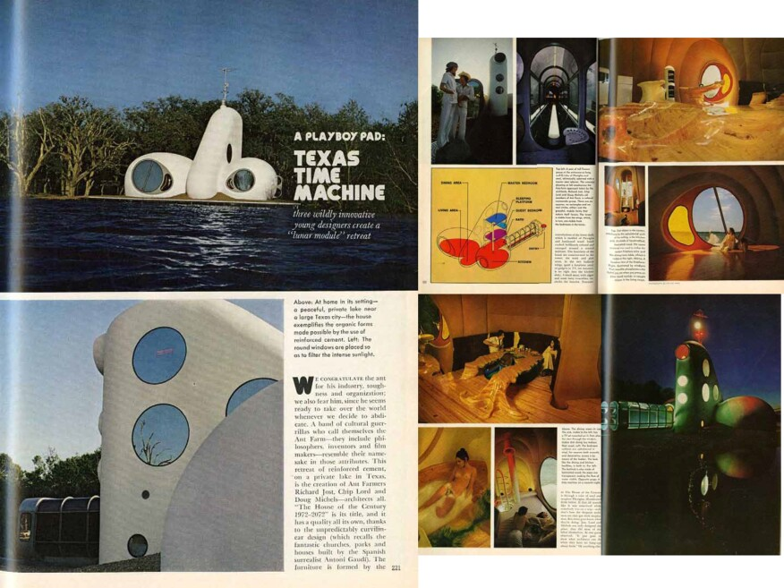 Ant Farm's Playboy Pad-Texas Time Machine, from the December 1973 issue