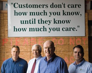 From left: Tim Radulski, Dave Radulski, Pete Fitzpatrick, and John Smith, of P.J. Fitzpatrick Inc., New Castle, Del.