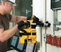 DeWalt's cordless D25302DH Dust Extraction System keeps working areas free of fugitive dust.