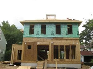 The ultra-insulated SIPS house is currently under construction in Webster Groves, Mo.