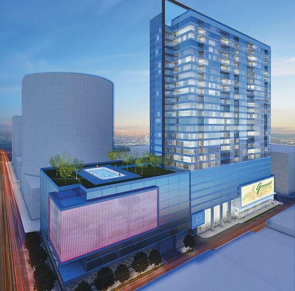This mixed-use tower, designed by RTKL Associates for downtown Cincinnati, will feature 300 apartments, a 15,000-square-foot grocery store—and 1,000 parking spaces.