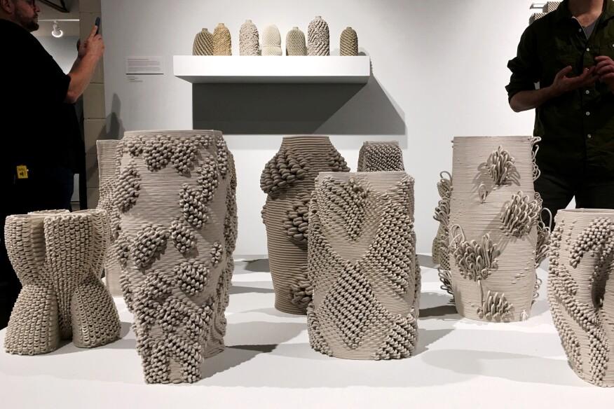 """GCODE.Clay"" collection, Ronald Rael and Virginia San Fratello"