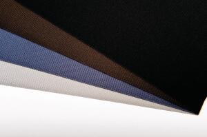 Nysan Solar Control has released GreenScreen DuoTone fabric. The two-tone fabric is available in four color options and allows architects to control heat gain. A light color on the exterior reflects heat and, though it appears opaque from the outside, a darker interior surface allows for outward views. The recyclable, PVC-free fabric is made of 92% polyester yarn and 8% polyurethane finish. ¢ nysan.com