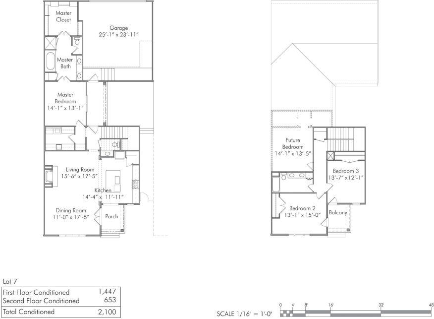 Sample floor plan for Perkins Lane development in Baton Rouge by Looney Ricks Kiss.