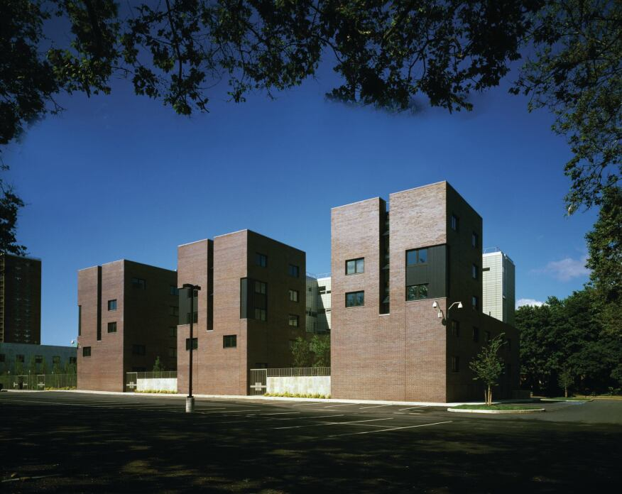 Pratt Institute's Stabile Hall in New York's Brooklyn borough breaks student housing into massing that reflects the scale of its surrounding neighborhood.