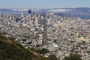 """Market Street San Francisco From Twin Peaks"" by Vincent Bloch"