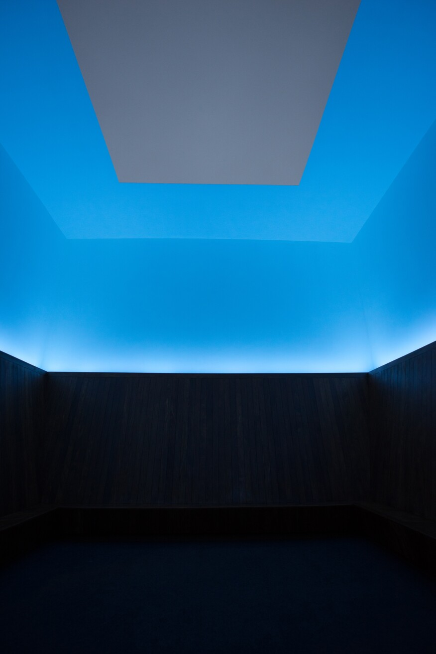Installation view of James Turrell, Meeting, 1980-86/2016, at MoMA PS1. The Museum of Modern Art, New York. Gift of Mark and Lauren Booth in honor of the 40th anniversary of MoMA PS1.
