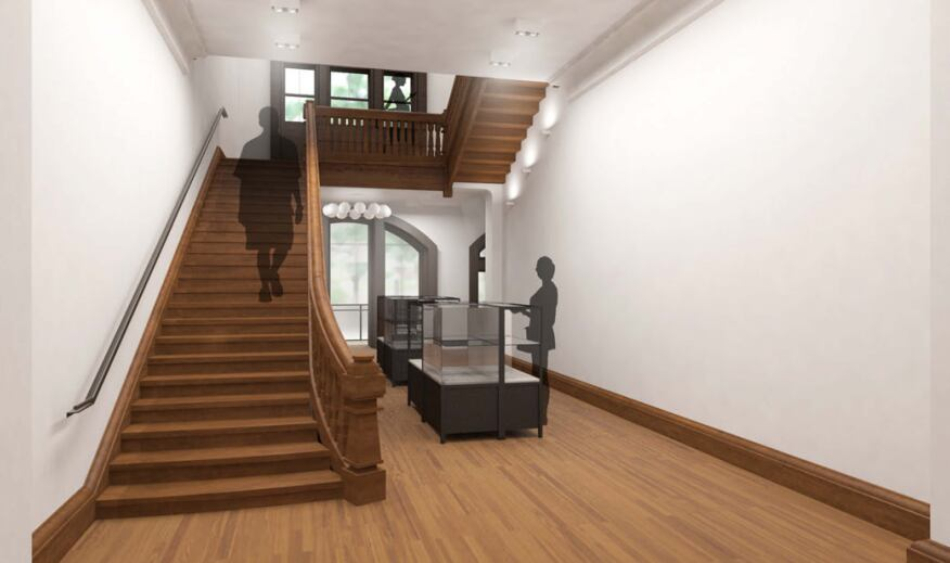 Main staircase at first floor