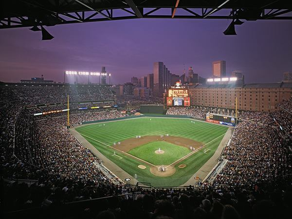 Oriole Park at Camden Yards, Baltimore, by Populous, formerly HOK Sport.