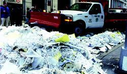 The Oct. 30, 2000, New York Yankees World Series Winner Ticker Tape parade produced 46.7 tons  of garbage. Photo: DSNY