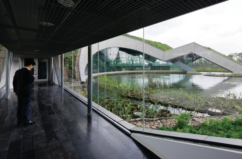 Headquarters for the Giant Interactive group,   a software company in Shanghai, 2011