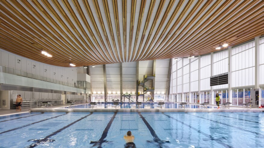 Grandview Heights Aquatic Centre S Timber Cables