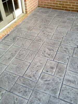 AFTER: This is what the patio was supposed to look like when it was installed 10 years ago. Decorative concrete repair is a low-overhead, high-profit niche.