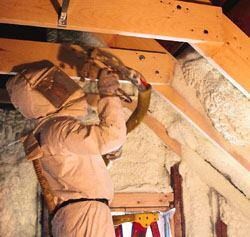 Made from oils that are derived from soybeans, HealthySeal spray-foam insulation       is price competitive with fiberglass and cellulose insulation, the maker       says. The foam insulation provides airtight seals around doors, windows,       outlets, walls, and roofs, says the firm. It doesn't contain ozone-depleting       CFCs, HCFCs, HFCs , or formaldehydes. 800-769-3626. www.healthyseal.com.