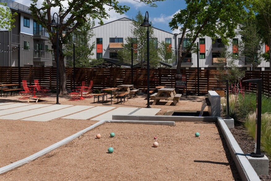 Wood Partners offers several vibrant outdoor spaces in this Dallas community.