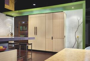 "City of Industry, Calif.-based Tonusa says its ""elements"" line of modern kitchen cabinetry offers ""elevated design at a moderated price."" Created by designer Fu-Tung Cheng as an alternative to high-end European systems, elements is comprised of flexible c"