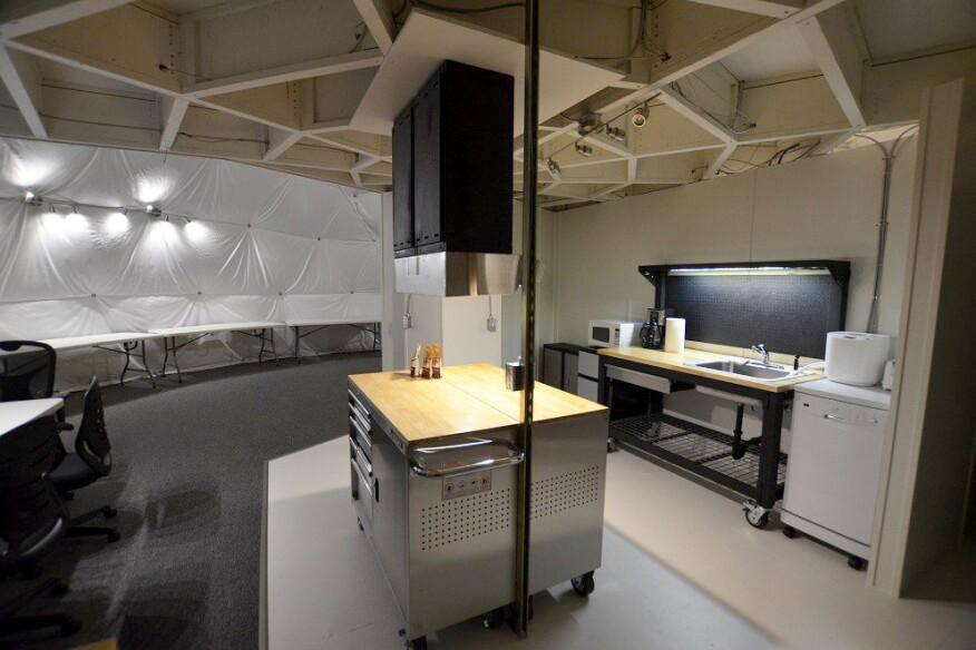Kitchen in the HI-SEAS dome habitat