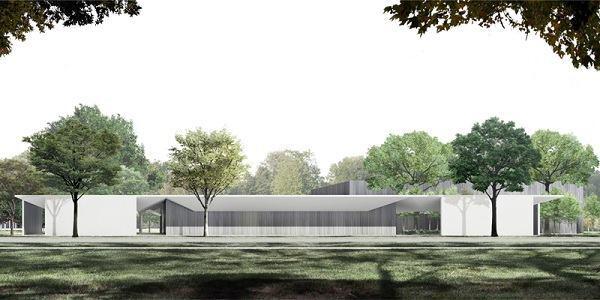 Rendering of the Menil Drawing Institute