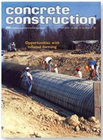 April 1988 Concrete Construction magazine featured the innovative technique called inflated forming.