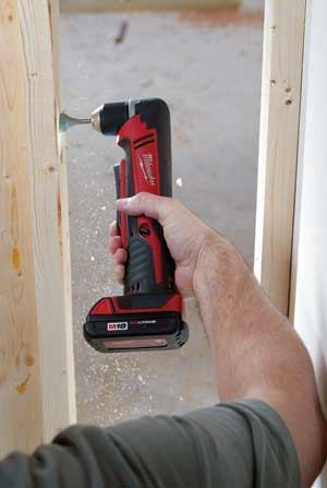 Milwaukee cordless right angle drill/driver