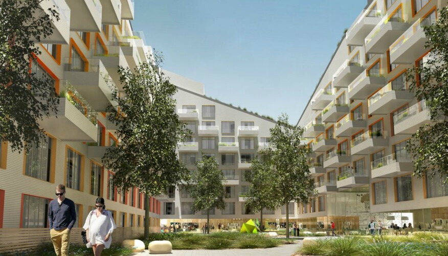 Apartment Building Courtyard oda's building design sets a higher standard for outdoor spaces
