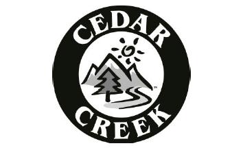 Cedar Creek logo in black and white