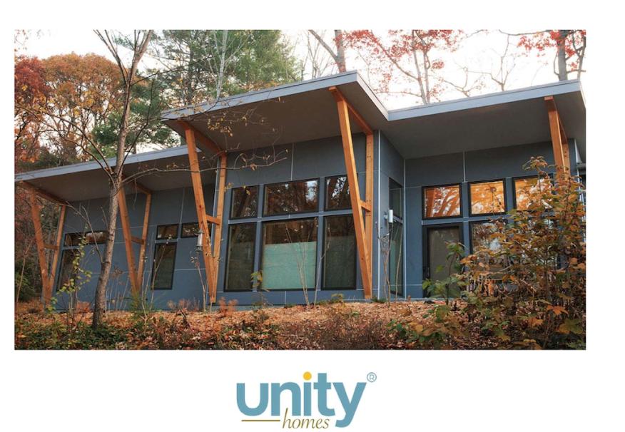 Unity Homes Zum model on site.