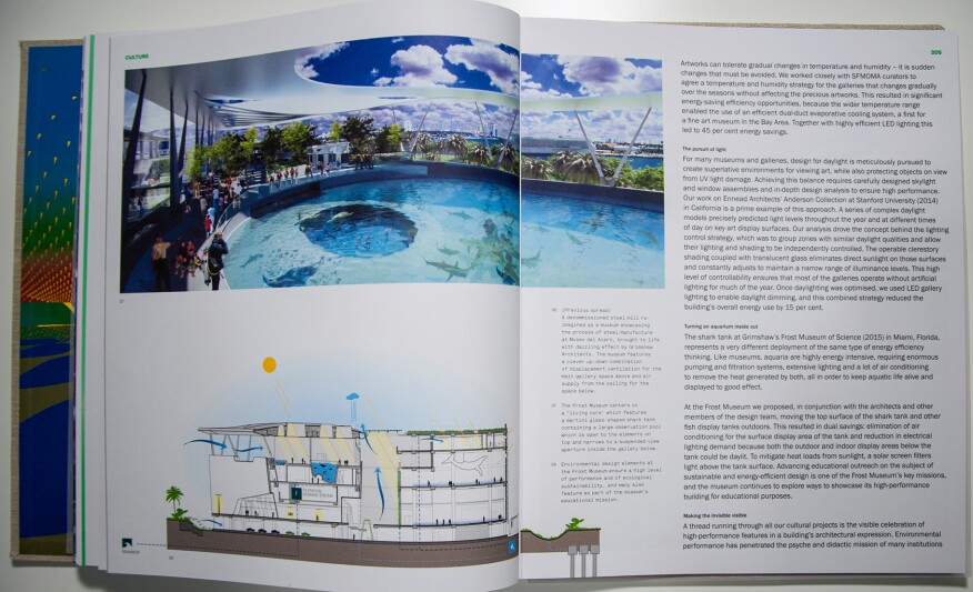 The chapter on cultural projects features the Patricia and Phillip Frost Museum of Science, a project Maxfield is working on in Miami.