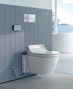 Stressing technology and design, Duravit has launched SensoWash, a line of shower-toilet seats that are long on form, function, and luxury.