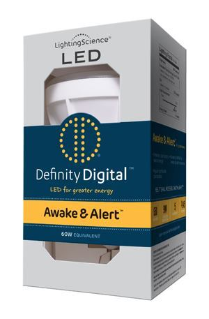Awake & Alert is among Lighting Science's Definity Digital platform of lamps whose spectrums are adjusted for uses such as boosting alertness and improving melatonin production.