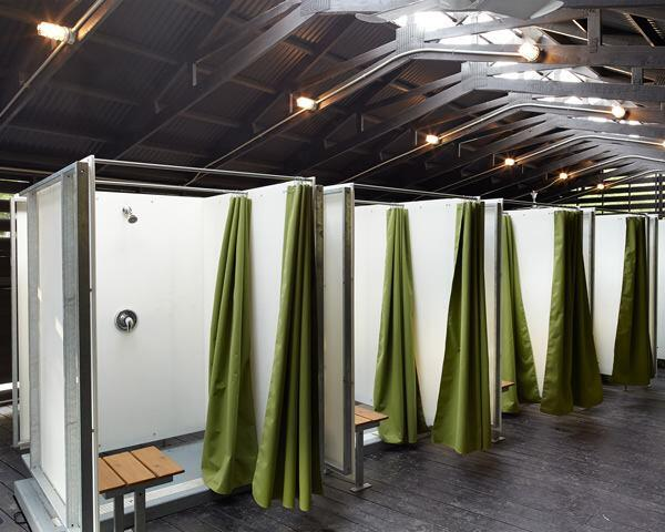 Interior, shower facility.