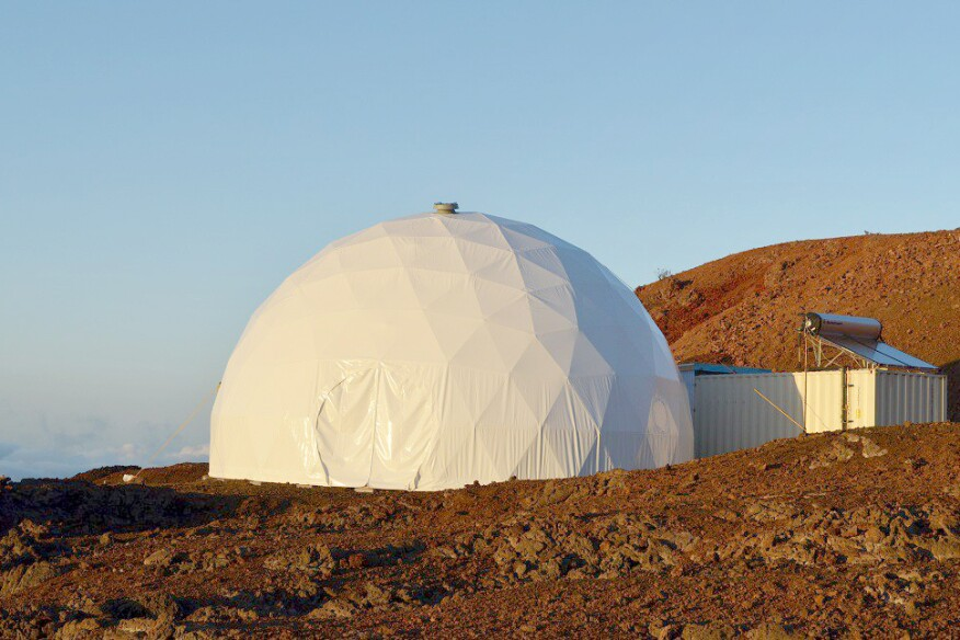 The HI-SEAS dome habitat exterior shell was by Pacific Domes, in Ashland, Ore. Honolulu firm Envision Design planned the interior (circa 2012).