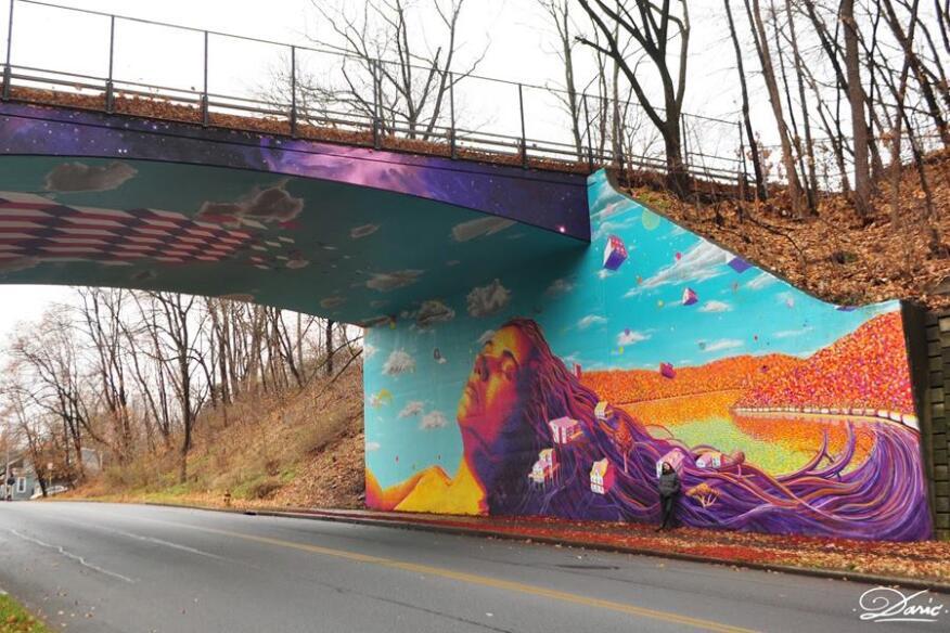 Overpass in Newburgh, New York.