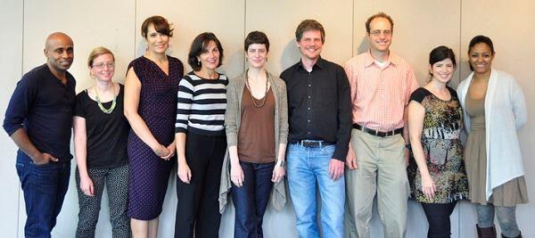 From left: Baye Adofo-Wilson, Angelyn Chandler, Arana Hankin, Alexandra Lange, Helen Lochhead, Matt Nohn, Florencia Rodriguez, Eli Spevak, Alexie Torres-Fleming.