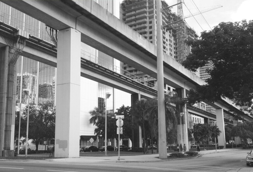 Brickell Station currently, taken by students at University of Miami.