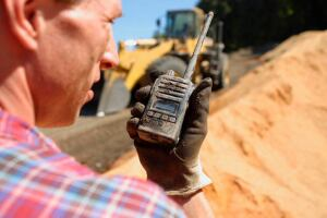 You should use reliable, rugged, and waterproof two way radios for the concrete construction environment.