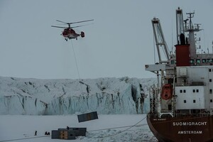 Cement sacks survive Antarctic conditions