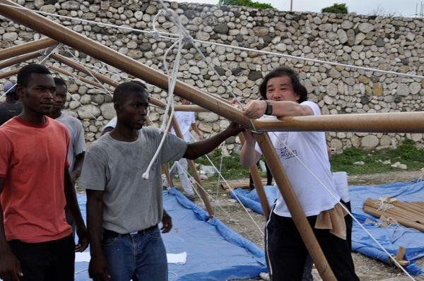 Paper Emergency Shelter, Haiti, 2010.
