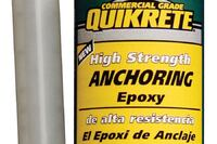 Quikrete + High Strength Anchoring Epoxy
