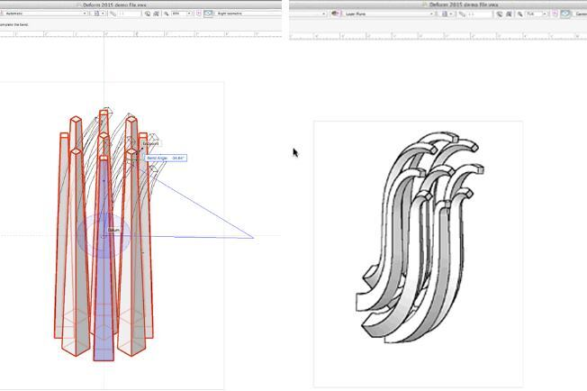 The Deform tool can bend solid geometries into user-defined shapes.