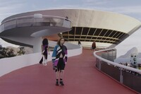Watch Louis Vuitton Models Walk the Niterói Contemporary Art Museum Catwalk