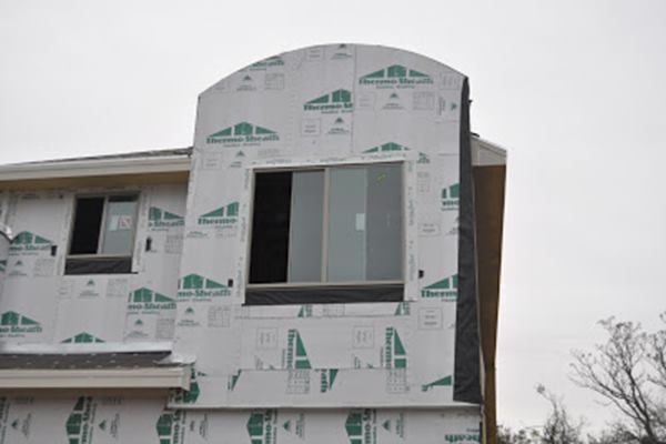 House with ThermoPly Sheathing