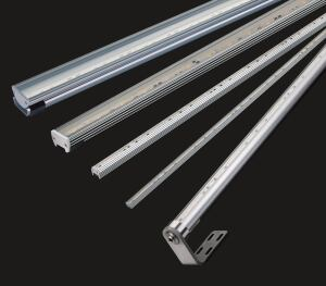 "The Winline Linear LED Series from Winona Lighting is offered in three versions: surface linear, cove, and submersible, and are suitable for the grazing of interior and exterior walls, ceilings, and other planes. Ranging in lengths from 12"" to 48"", the lights come in five standard ANSI-binned color temperatures: 2,700 K, 3,000 K, 3,500 K, 4,000 K, and 5,000 K. Used with remote-mounted 24V AC magnetic transformers, the luminaires can be dimmed with low-voltage magnetic dimming equipment that is commonly available. winonalighting.com"