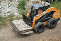 Case skid steer for heavy-duty earthmoving