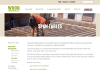 Softwood Lumber Span Tables