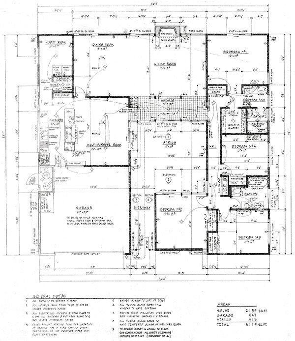 Bringing the eichlers back to the bay area architect Eichler atrium floor plan