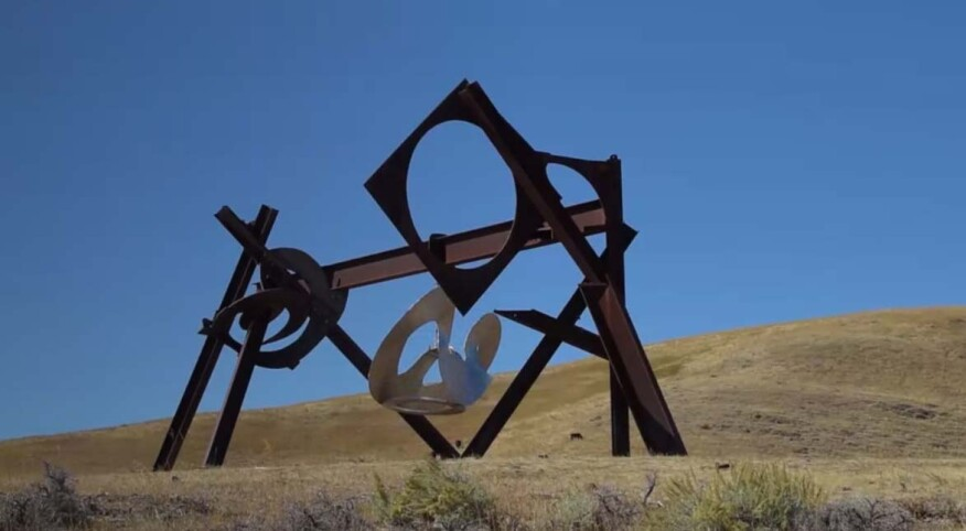 "Abstract expressionist Mark di Suvero's ""Beethoven's Quartet"" will be installed as part of the fine arts display, which was aptly chosen for the site's musical connection. Made of geometric, steel components, the dynamic structures provide intrigue with their moving pieces."