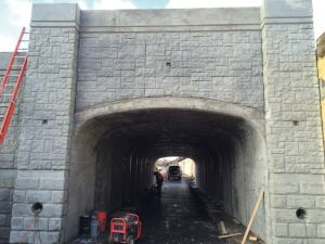 County Materials manufactured ArchCast precast concrete bridge sections for Joliet Union Station.