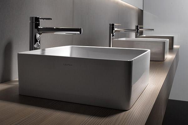 Vitreous china and, more recently, fine fireclay—a blend of clay and minerals that is molded, glazed, and then fired at high temperatures—are two of the most popular options for ceramic bathroom fixtures worldwide. But Swiss bathroom-fixture manufacturer Laufen is offering another possibility. According to Laufen, its SaphirKeramik material has the strength of carbon steel and twice the strength of vitreous china, allowing it to be formed with radii and edges of unprecedented thinness—1mm to 2mm. laufen.com