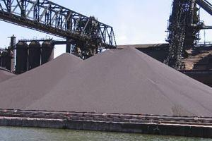 Iron ore pellets.